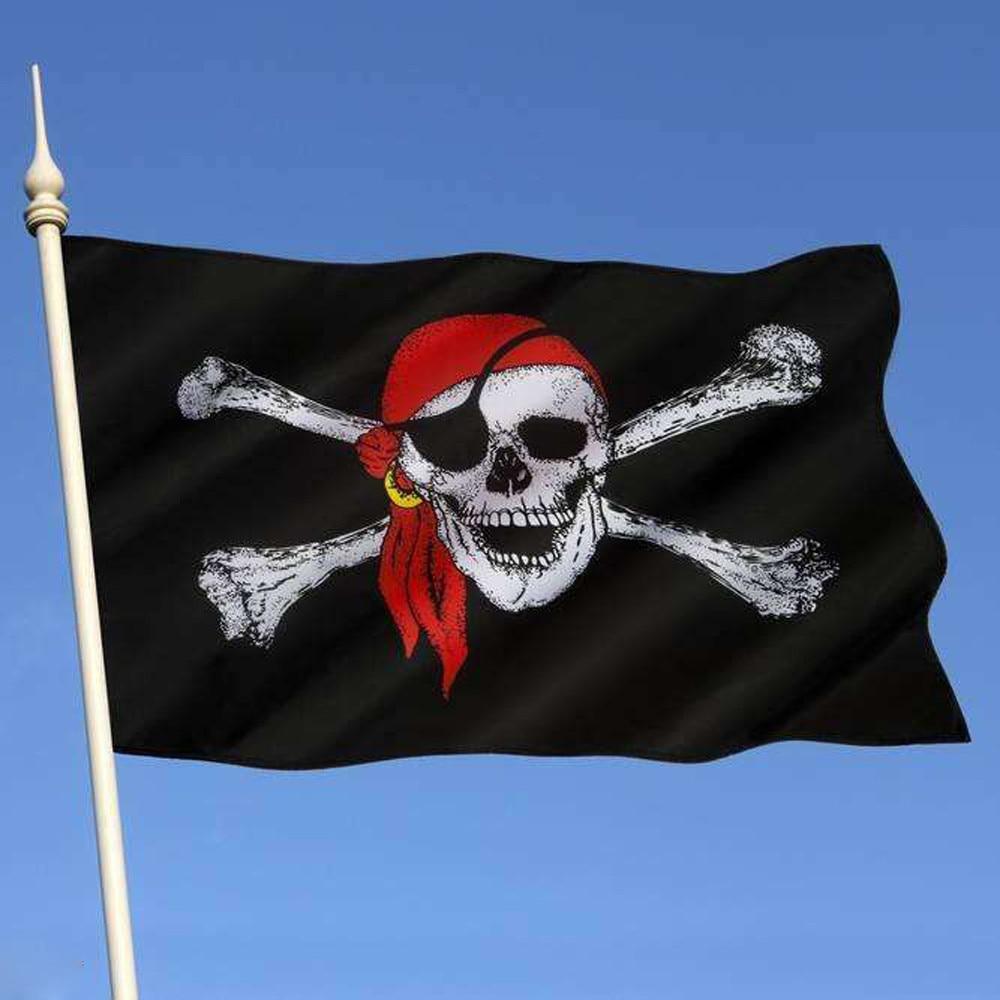 Pirate Flag 90X150cm Calico Flag balloween jolly roger skull Flag Polyester Banner creative diy ...