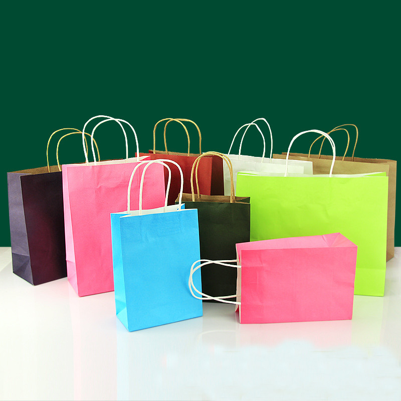 40pcs/lot 32cm*25cm*11cm kraft paper gift bag, , Festival ...