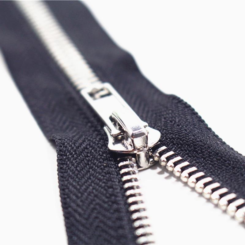 Close End 10cm 80cm 5# 10pcs white Metal Zipper for Sewing ...