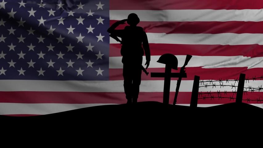 American Flag with Veteran memorial day image - Free stock ...