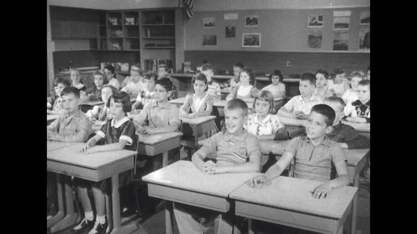 United States 1950s: Classroom of Stock Footage Video (100% Royalty-free) 14105732 | Shutterstock