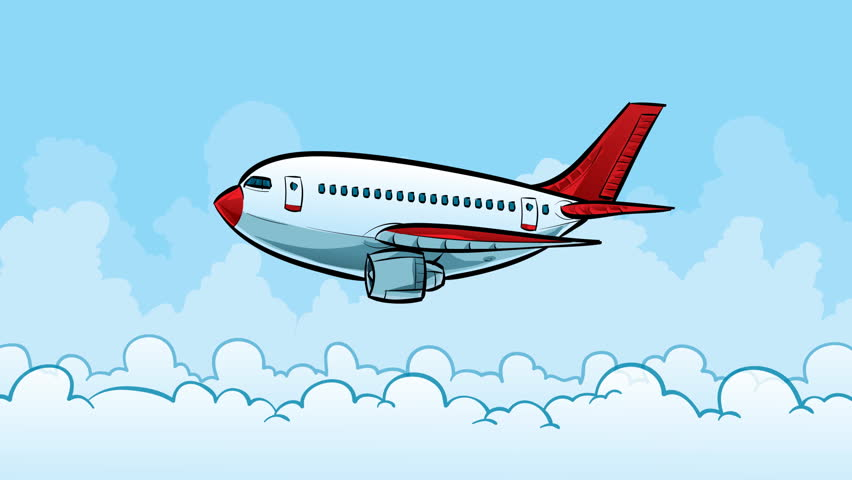 Animation Of Fast Flying Airplane In Drawing Style. Animation In Stop Motion Style. Animation Of ...