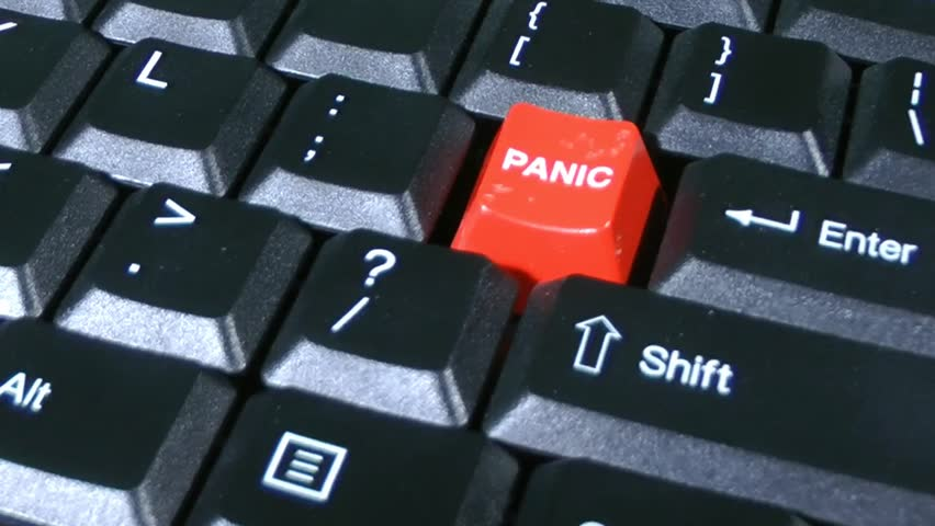 Panic Button On Keyboard Close-up Stock Footage Video (100 ...