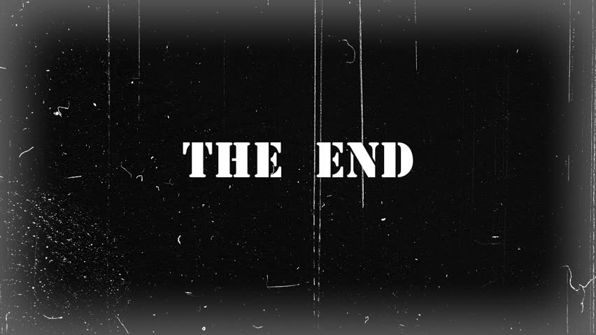 "Vintage ""The End"" Animation Color Version. Include Alpha ..."