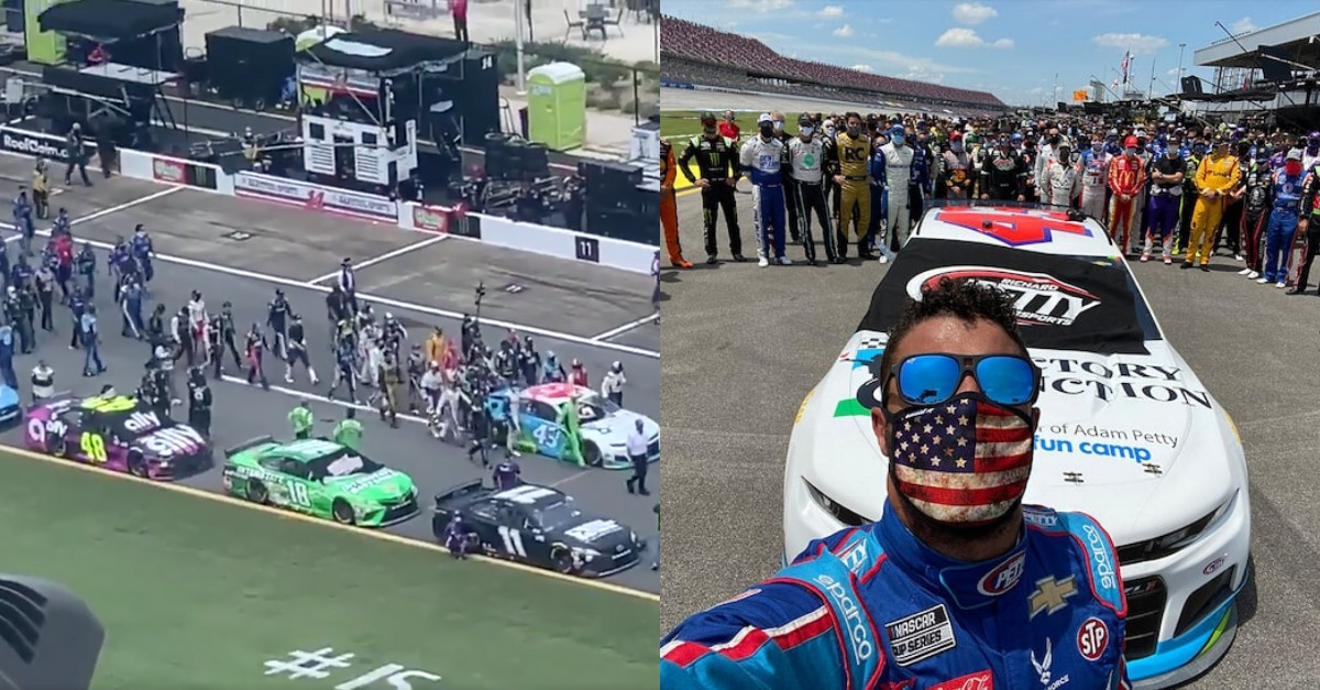 NASCAR Drivers Rally Behind Bubba Wallace in Emotional Pre ...