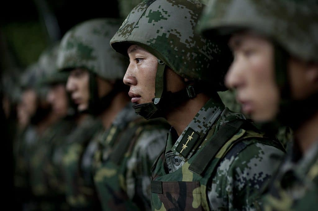 Chinese army carries out large-scale drill at border with India…