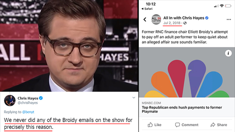 MSNBC's Chris Hayes Claims He 'Never' Reported On RNC ...