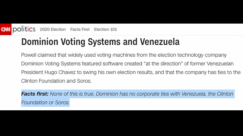 "CNN ""Fact-Check"" On Dominion Voting Systems Is Hardcore ..."