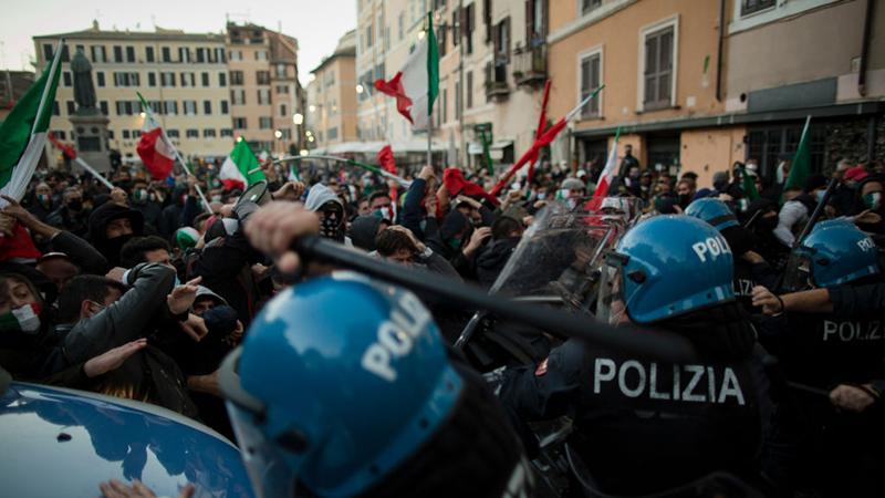 Anti-lockdown demonstrations intensify around Europe