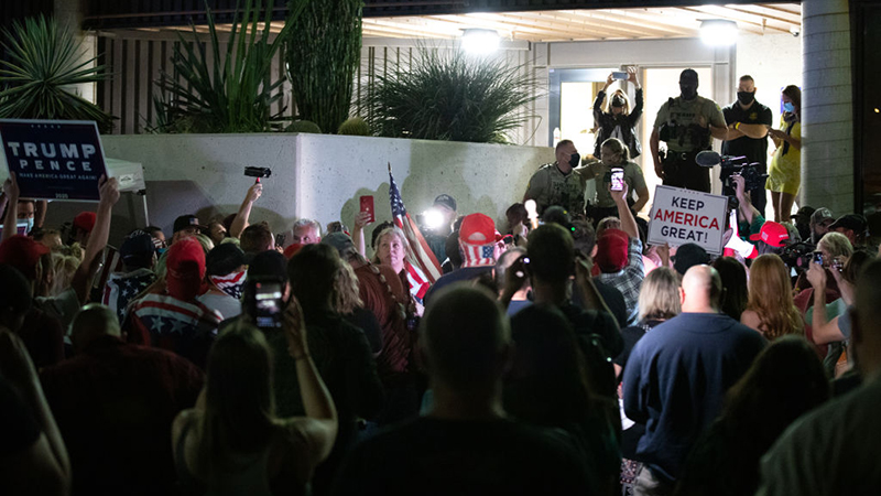 Videos: Trump Supporters Demand Access At Arizona Counting ...