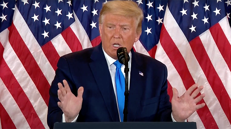 Trump Furious As Vote Counting Stops; Says 'Fraud' Is ...
