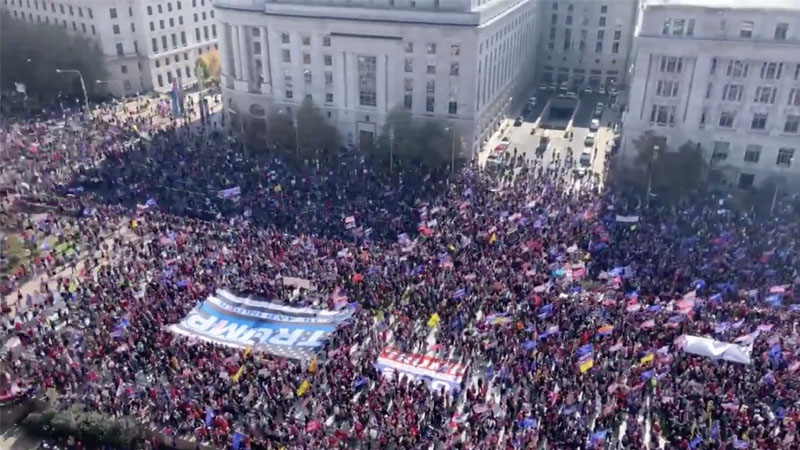 Police Say Over 200,000 At Million MAGA March — More ...