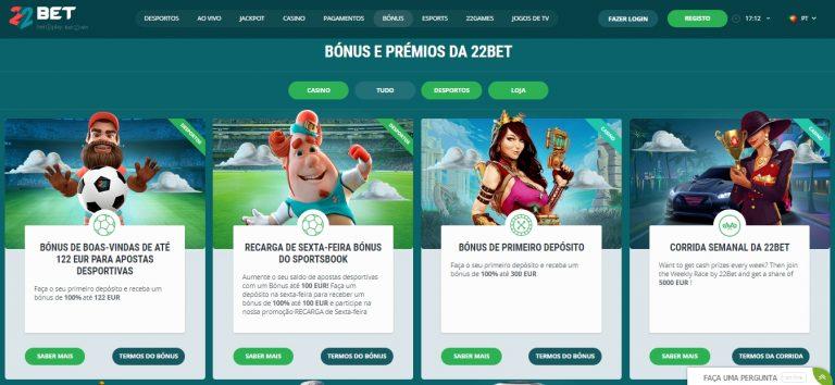 22bet legal Portugal é um casino com jogos licenciados