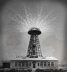Tesla's Wardenclyffe Tower, which was demolished in 1917