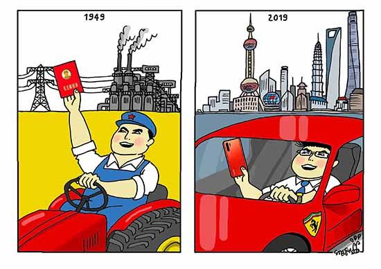 70 ans de la République populaire de Chine - Cartooning ...