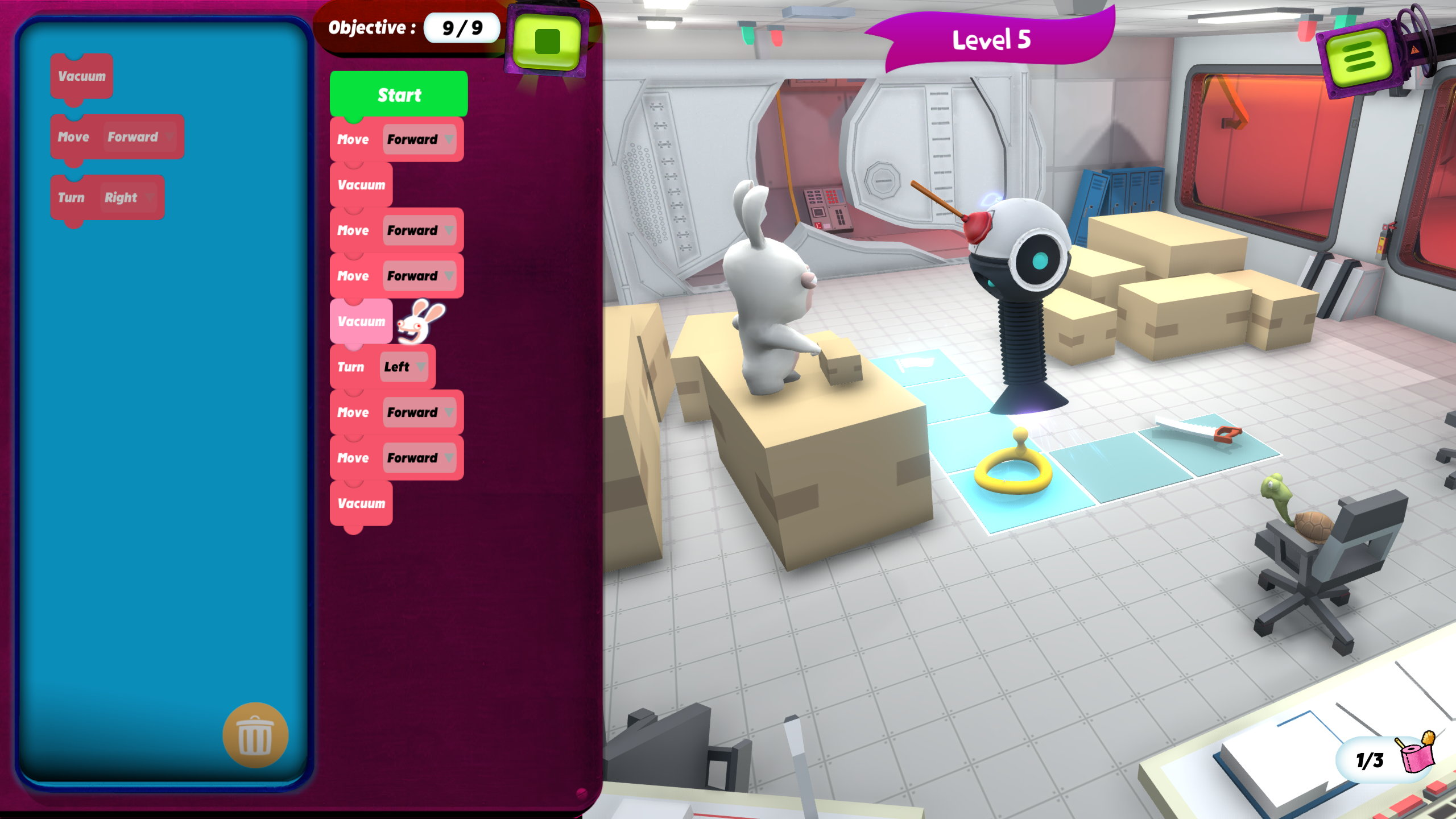 Ubisoft's Rabbids Coding is a free game teaching ...