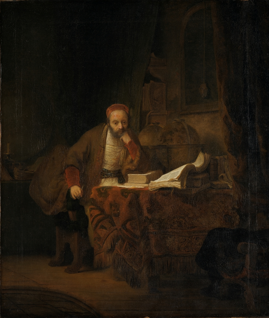 """A Scholar in his Study"" Rembrandt - Artwork on USEUM"