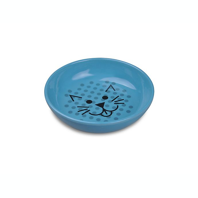 Van Ness Ecoware Non-Skid Cat Bowl in Blue   Bed Bath and ...