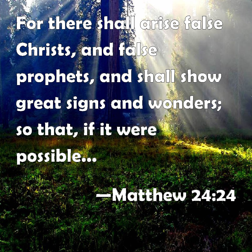 Matthew 24:24 For there shall arise false Christs, and ...
