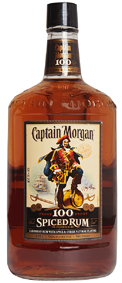 Captain Morgan 100 Proof Spiced Rum - 1.75L - Bremers Wine ...