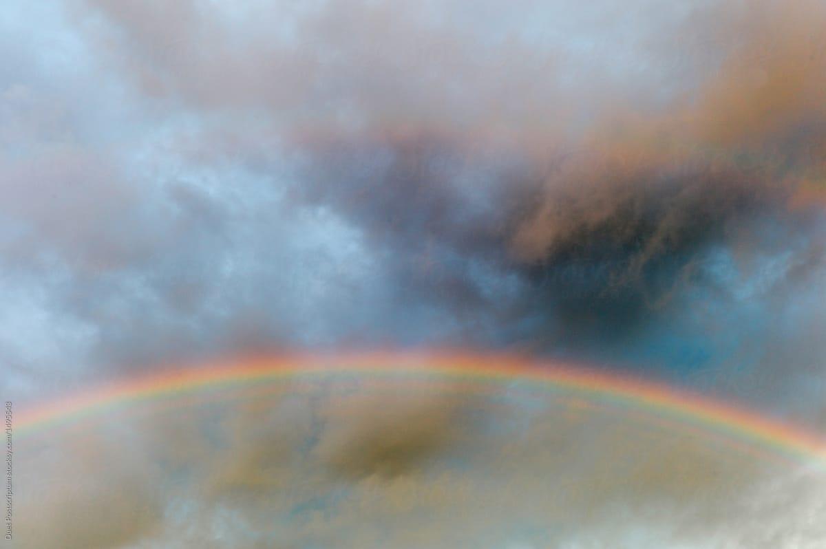 Rainbow in dark sky by Duet Postscriptum - Rainbow, Sky ...
