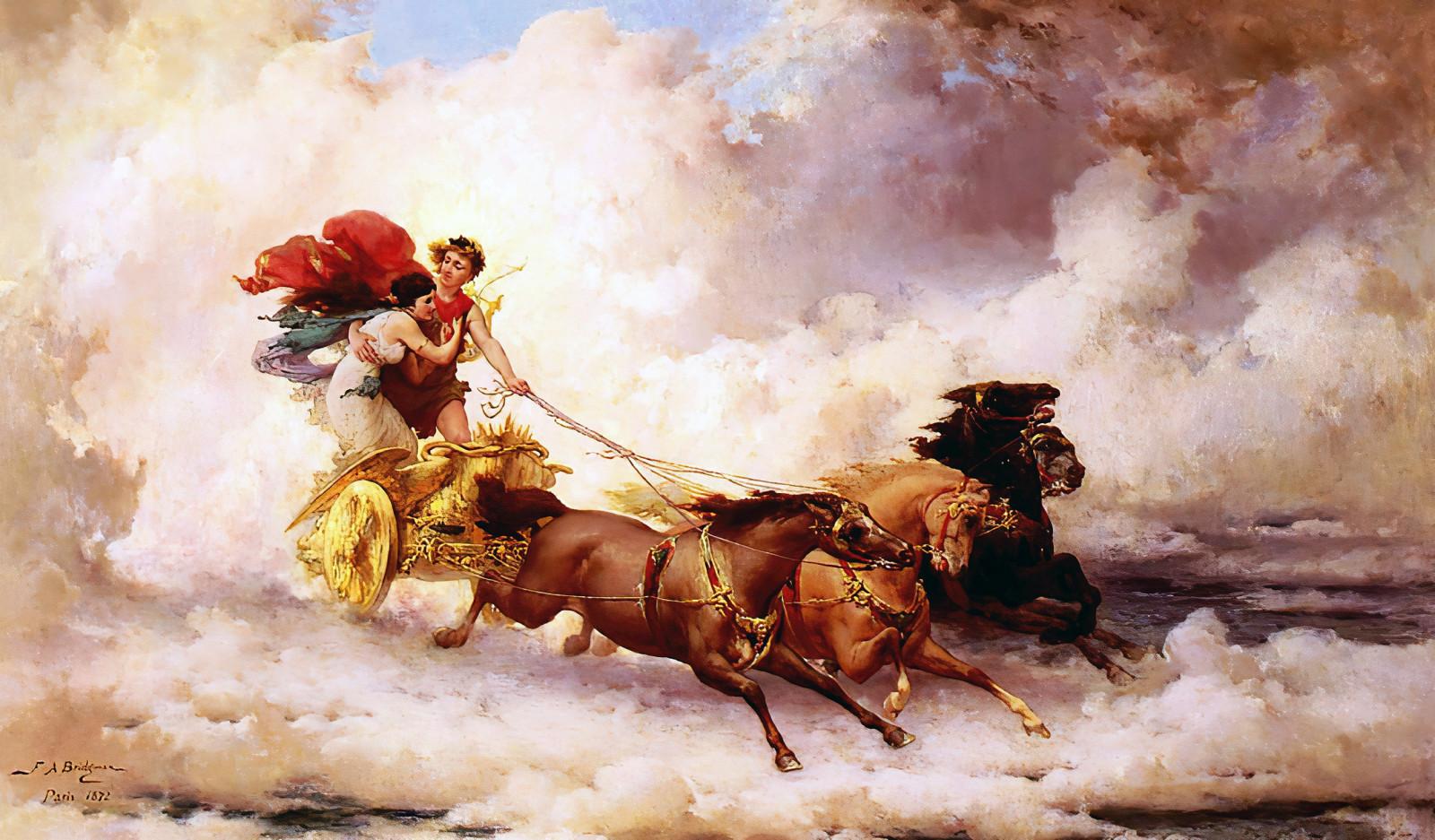 壁纸 : Apollo Abducting Cyrene, Frederick Arthur Bridgman ...