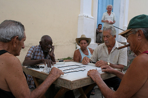 Playing domino, Cuba | These men were so focused on their do ...
