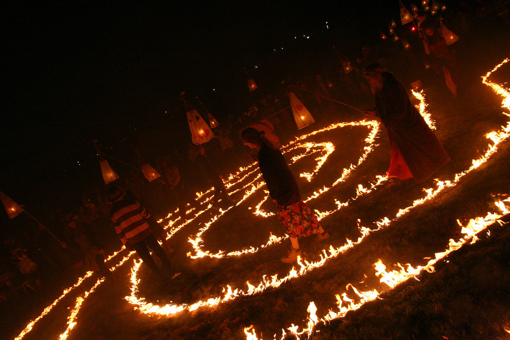 Fire ritual in Avalon Field   Chris Parsons   Flickr