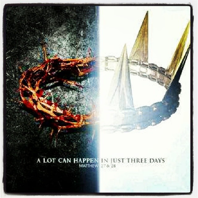 A lot can happen in just #three days. #Matthew 27 and 28 ...