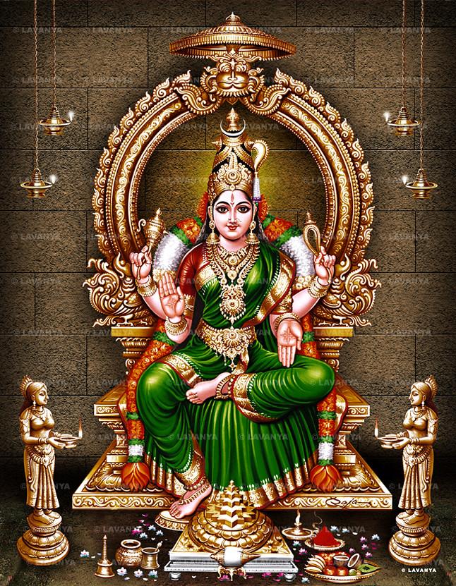 La gran Mahavidya conocida como Bhuvaneshwari