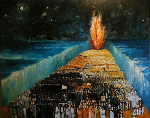 Israelites walk through Red Sea | quibi04 | Flickr