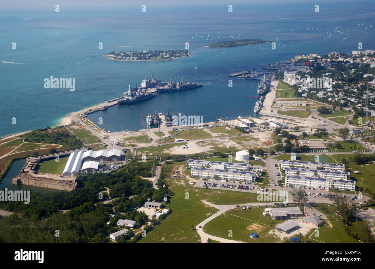aerial view of nas key west naval air station base truman ...