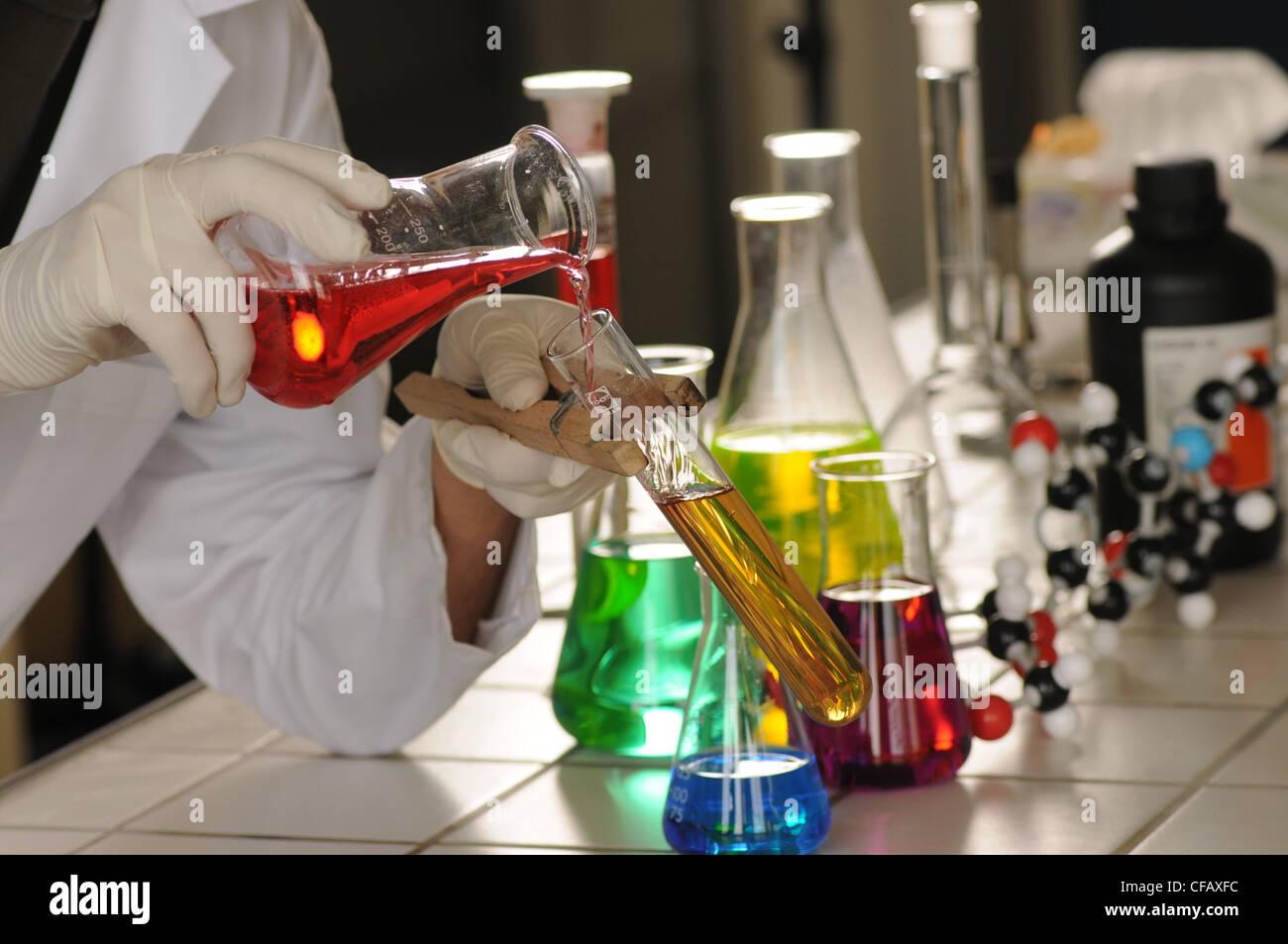 Mann, Forschung, Lehrer, Chemie, Labor, Formeln ...
