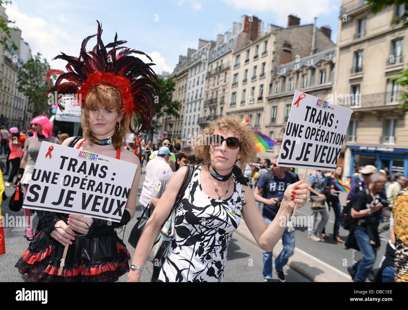 Französische Transgender Aktivisten beteiligen sich die ...