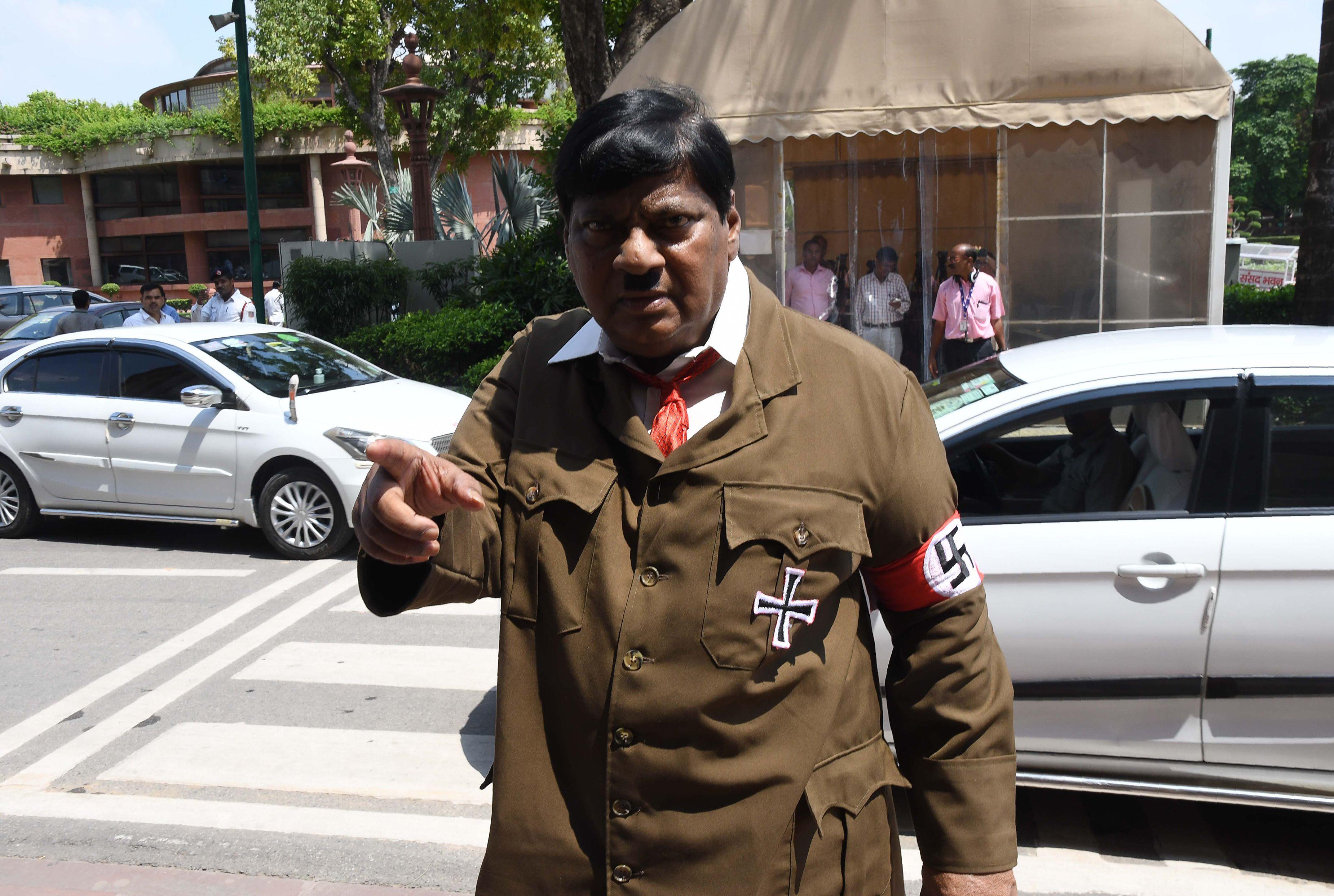 "India lawmaker dresses like Adolf Hitler to urge PM Narendra Modi ""not to be like"" the Nazi ..."
