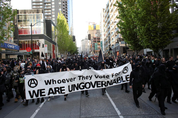 Seattle's violent May Day protests - CBS News