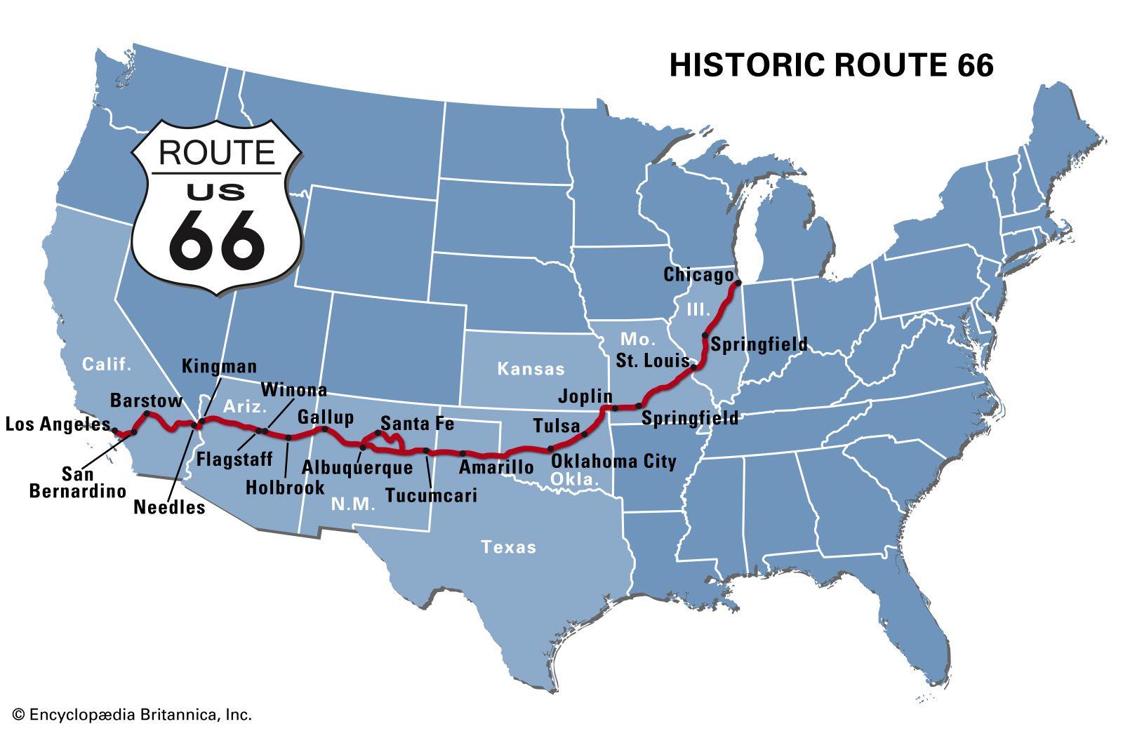 Route 66 | Construction, Popular Culture, & Facts | Britannica