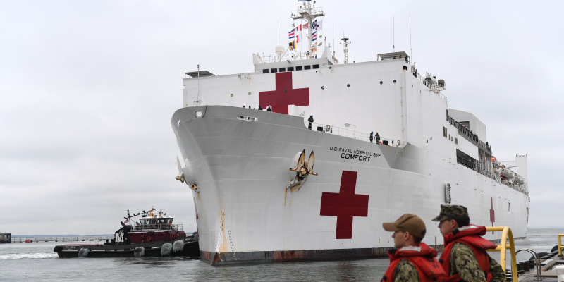 The US Navy is deploying a fully-equipped hospital ship to help in the fight against the coronavirus in New York…