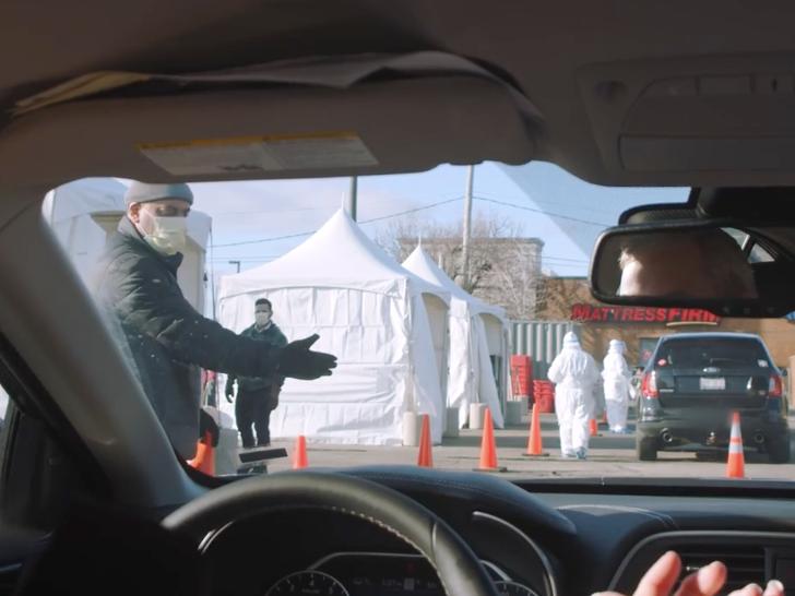 Walmart just opened its first drive-thru coronavirus testing sites. Here's what they look like…