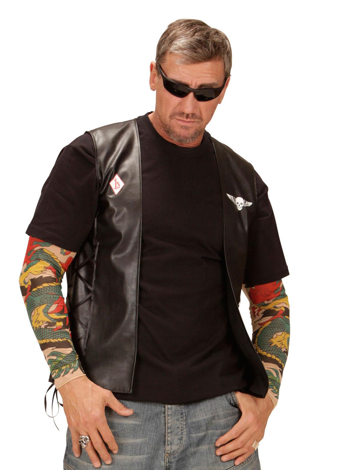 Gilet biker adulte : Deguise-toi, achat de Déguisements ...