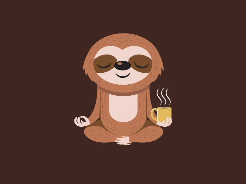 Yoga + Sloth + Coffee by Louis D. Wiyono | Wizmaya ...
