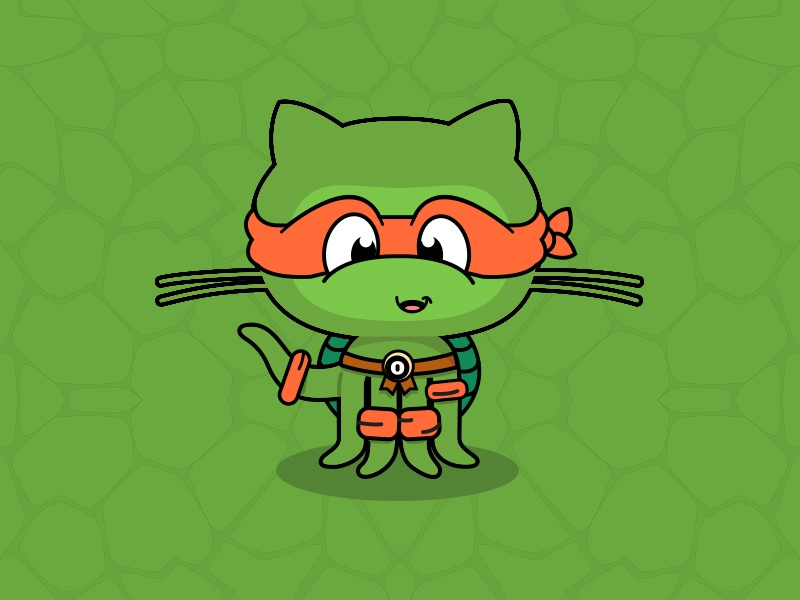 Octocat Ninja Turtle by Danilo Quilaton on Dribbble