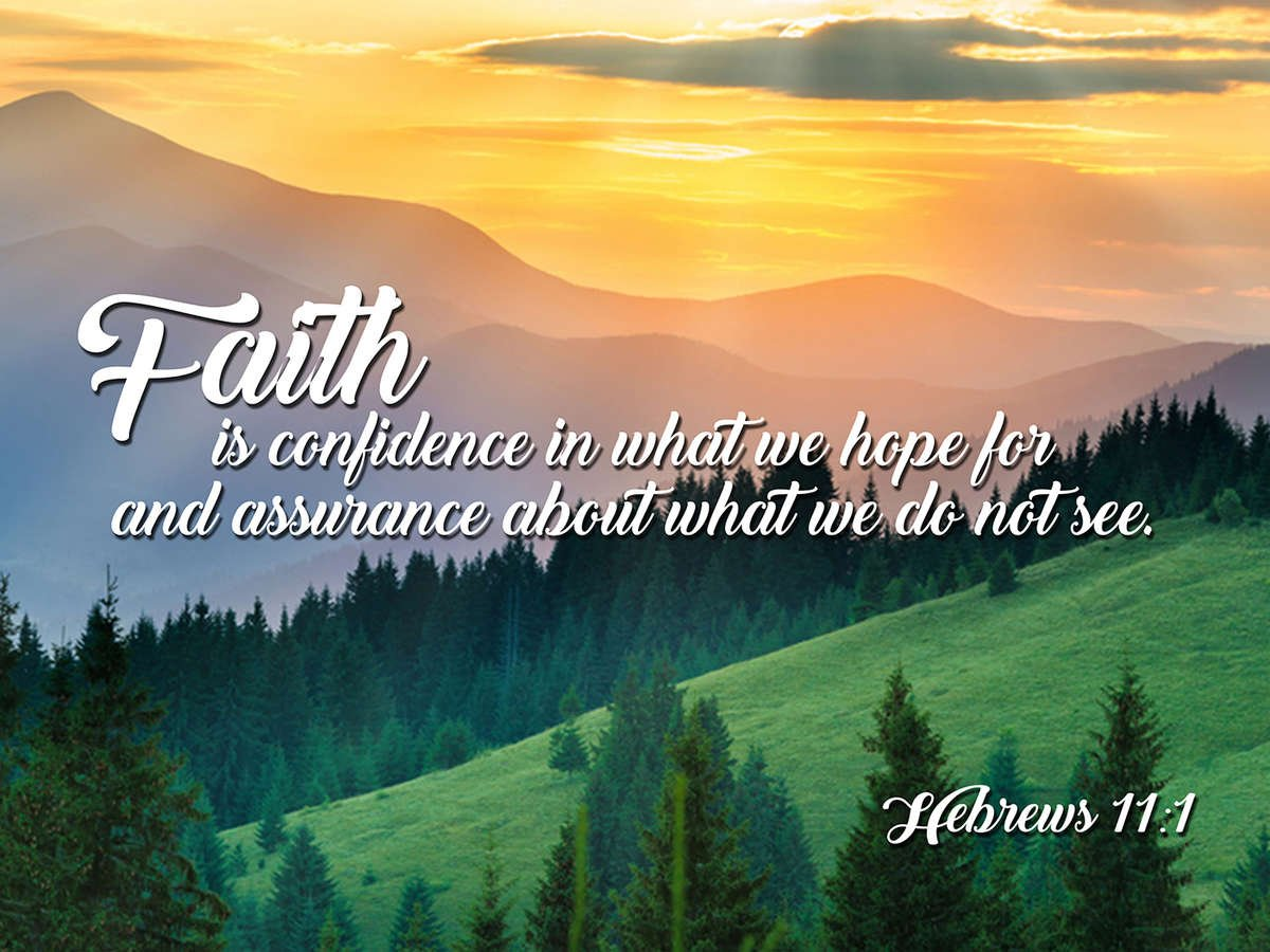 Hebrews 11:1 NIV Faith is Confidence Bible Verse Wall Art ...