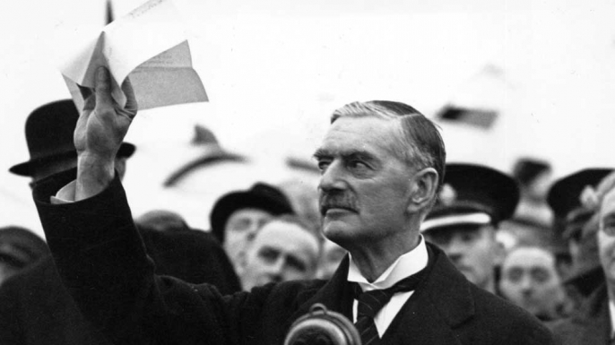 """Chamberlain Declares """"Peace for Our Time,"""" 75 Years Ago ..."""