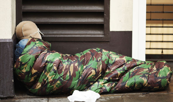 British military veterans homeless in UK with no mental ...