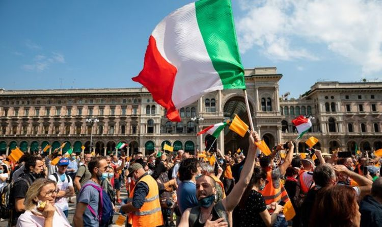 Italy orange vest protests erupt demanding an end to the ...