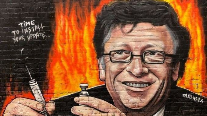 Huge Anti-Bill Gates Mural Appears in Melbourne as Crowds Chant 'Arrest Bill Gates' at Protests ...