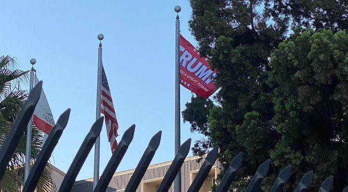 Patriot Removes California Flag, Replaces It With Trump ...