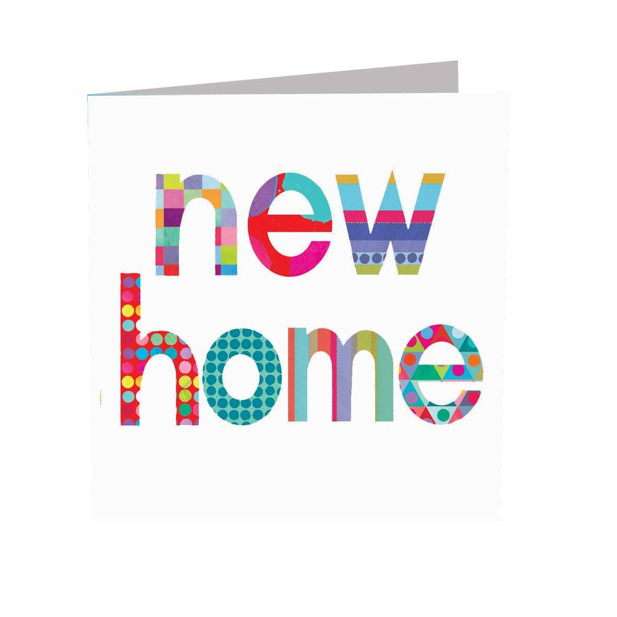 sparkly word new home card by kali stileman publishing ...