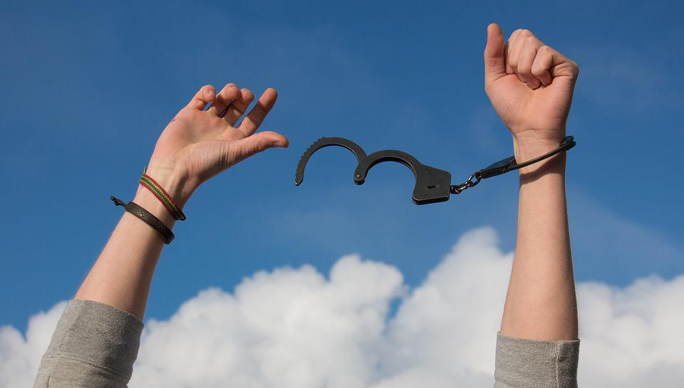 Free photo: Freedom, Sky, Hands, Handcuffs - Free Image on ...